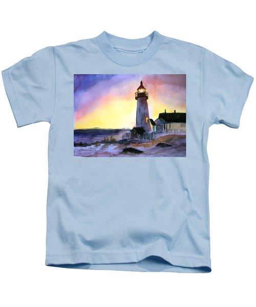Pemaquid Point Lighthouse Maine Kids T-Shirt