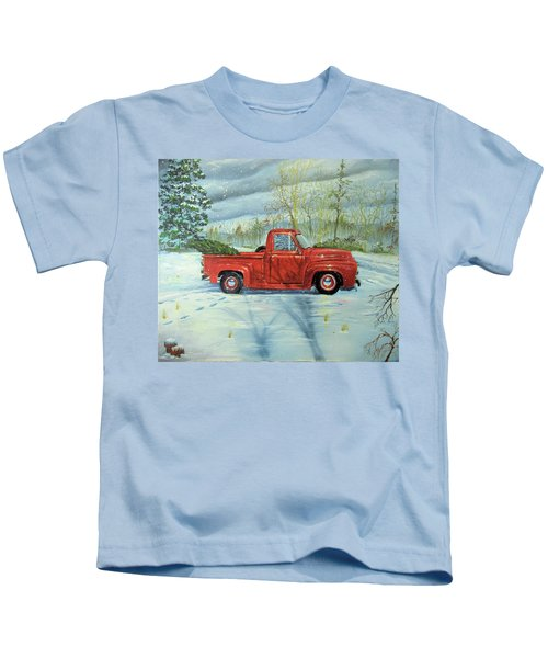 Picking Up The Christmas Tree Kids T-Shirt