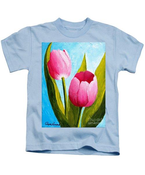 Pink Bubblegum Tulip II Kids T-Shirt
