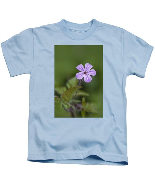 Pink Phlox Wildflower Kids T-Shirt