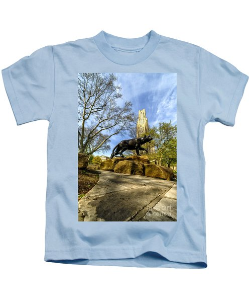 Pitt Panther Cathedral Of Learning Kids T-Shirt