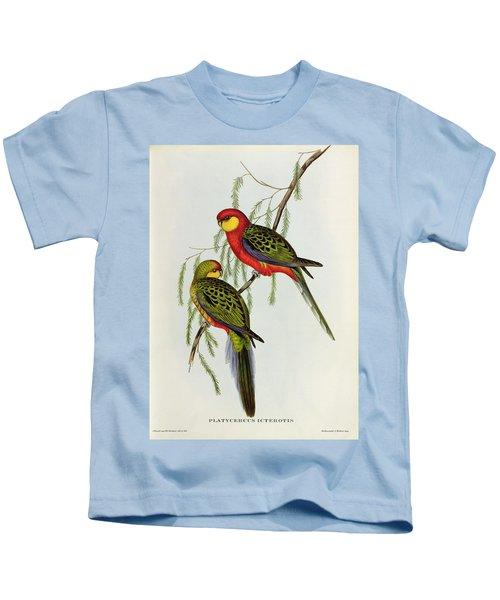 Platycercus Icterotis Kids T-Shirt by John Gould
