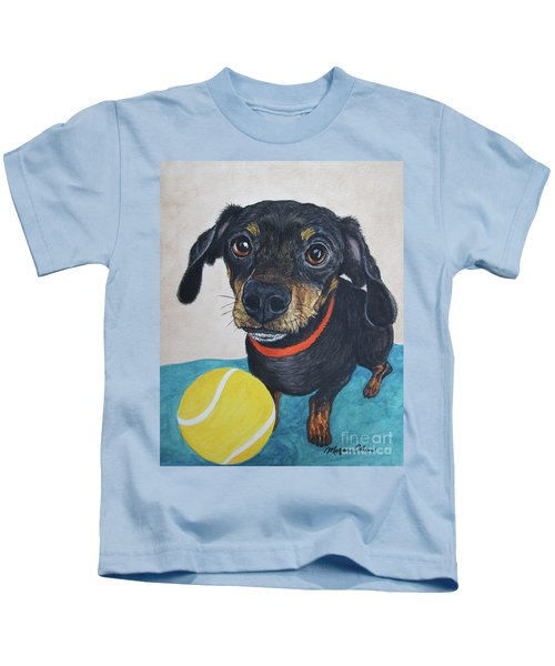 Playful Dachshund Kids T-Shirt