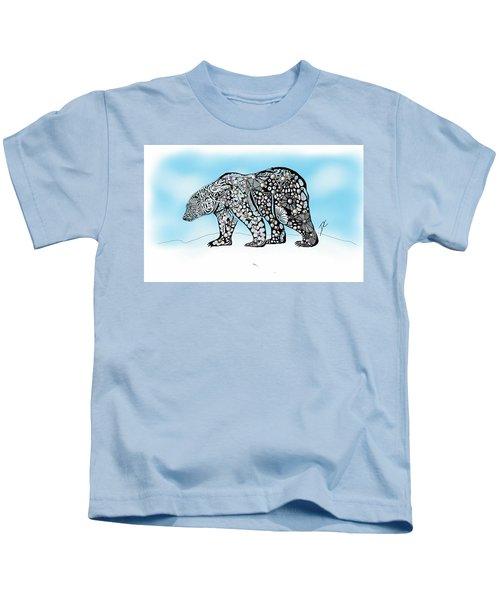 Polar Bear Doodle Kids T-Shirt