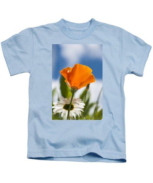 Poppy And Daisies Kids T-Shirt