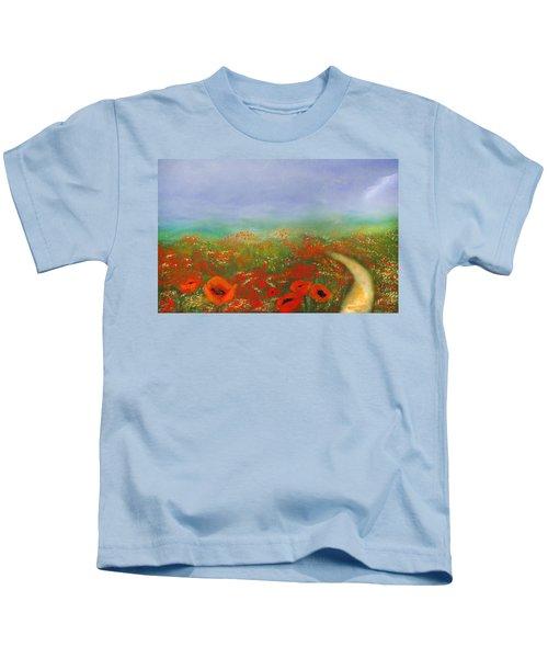 Poppy Field Impressions Kids T-Shirt