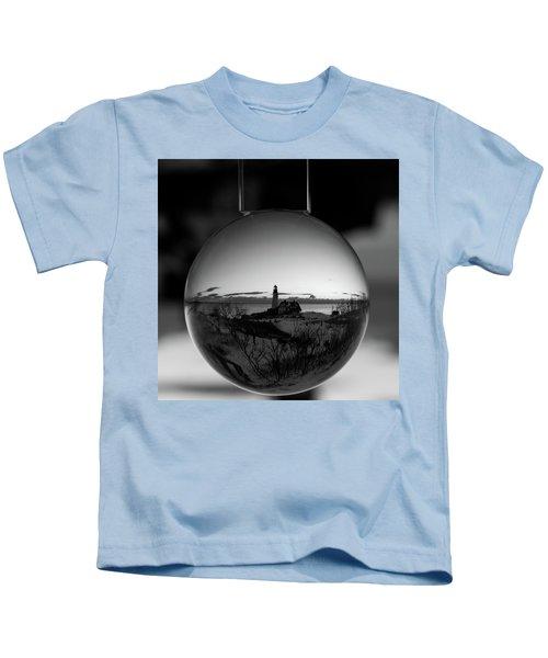 Portland Headlight Globe Kids T-Shirt