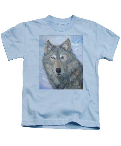 Portrait Of A Wolf Kids T-Shirt