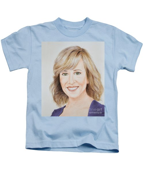 Portrait Of Jamie Colby Kids T-Shirt by Jim Fitzpatrick