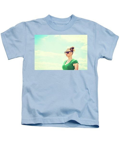 Portrait Of Young Woman Kids T-Shirt