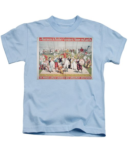 Poster Advertising The Barnum And Bailey Greatest Show On Earth Kids T-Shirt