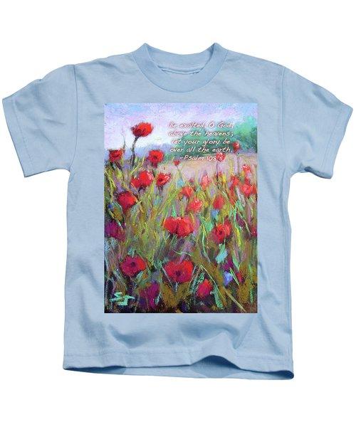 Praising Poppies With Bible Verse Kids T-Shirt