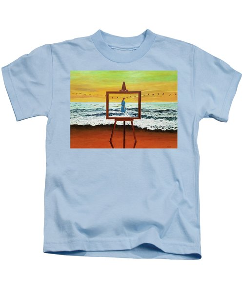 Pretty As A Picture Kids T-Shirt