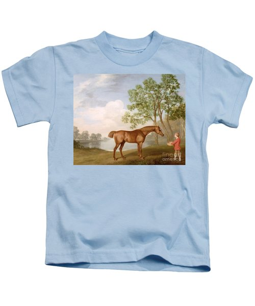 Pumpkin With A Stable-lad Kids T-Shirt