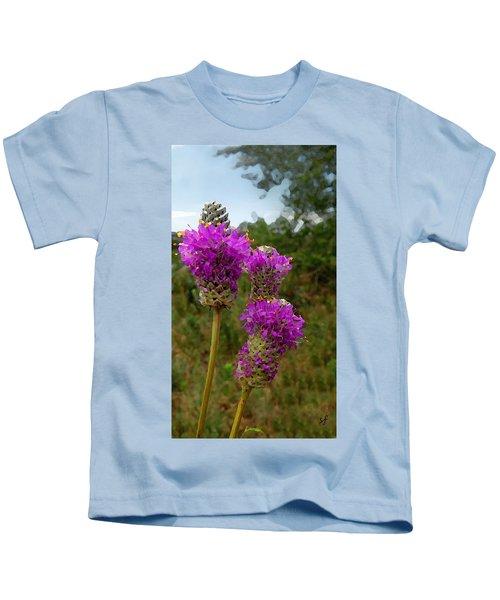 Purple Prairie Clover Kids T-Shirt