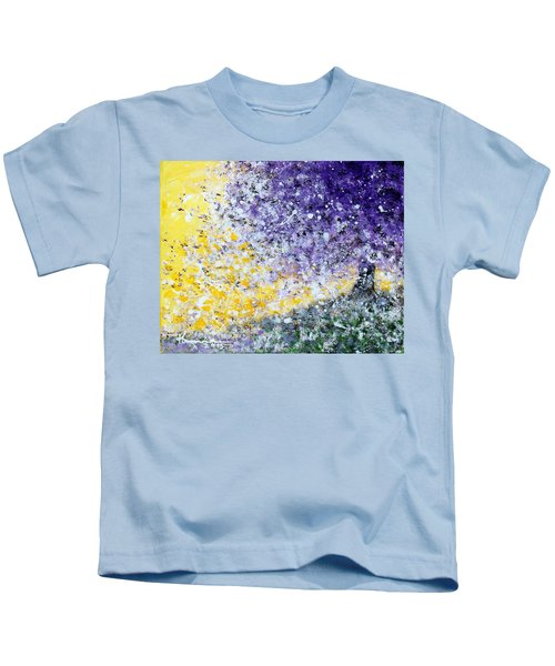 Purple Tree And The Afternoon Sun Kids T-Shirt