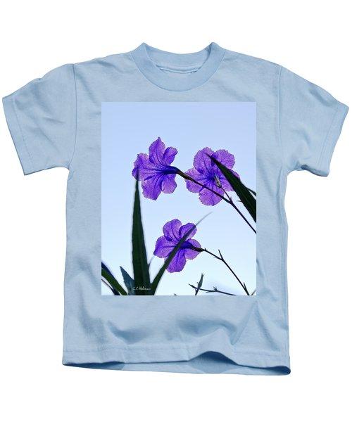 Purple Trio Kids T-Shirt
