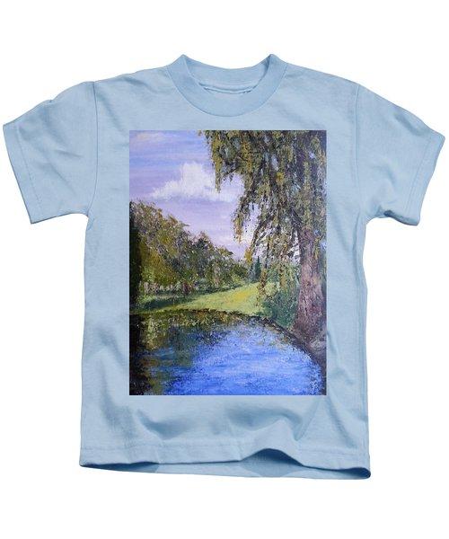 Putting Green Pond Kids T-Shirt