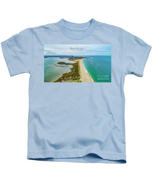 Quonochontaug Beach Kids T-Shirt