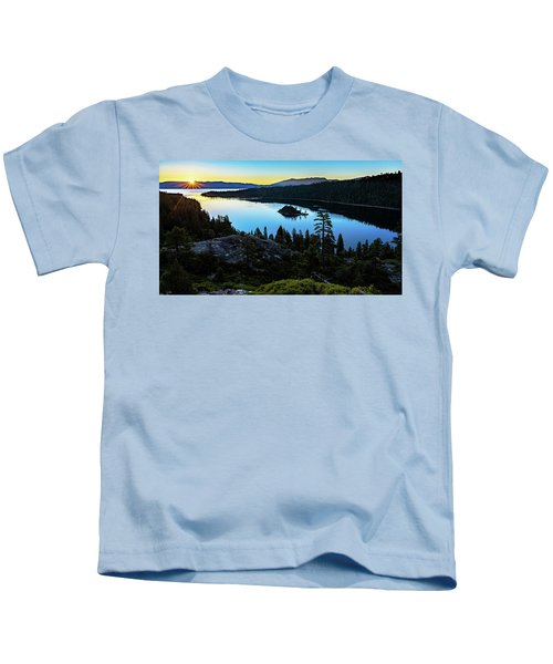Radiant Sunrise On Emerald Bay Kids T-Shirt