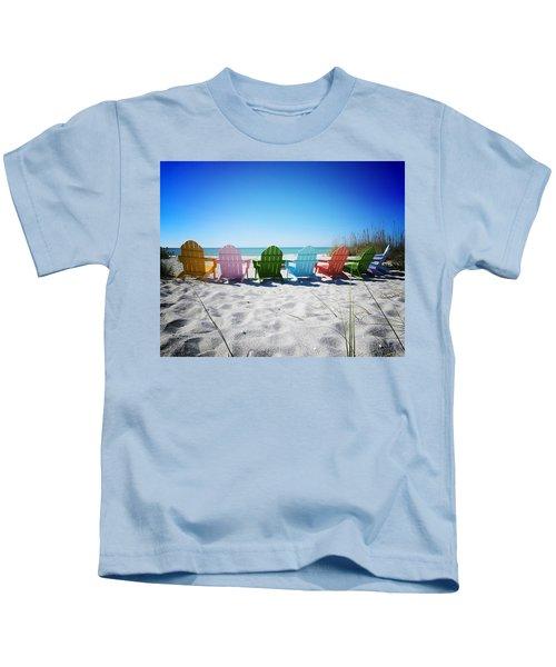 Rainbow Beach Vanilla Pop Kids T-Shirt