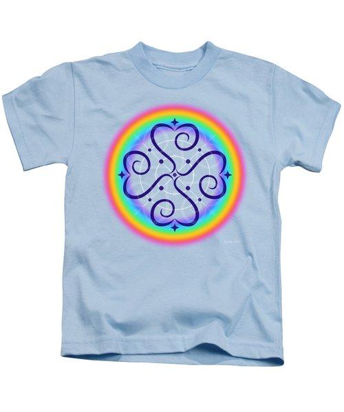 Rainbow Sphere Of Love Kids T-Shirt