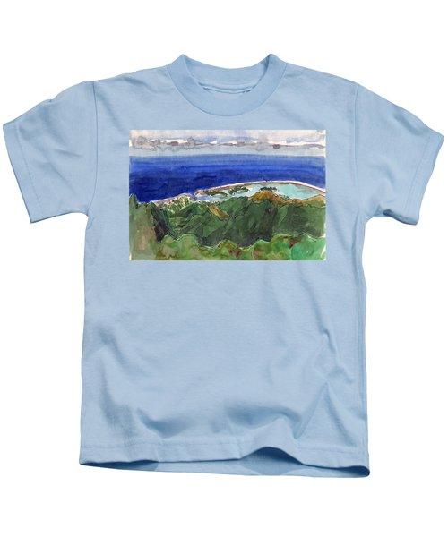 Rarotonga, View From Te Manga Kids T-Shirt