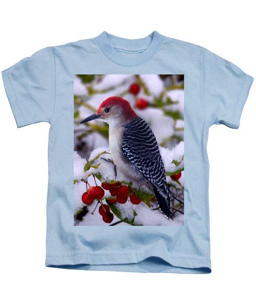 Red Bellied Woodpecker Kids T-Shirt