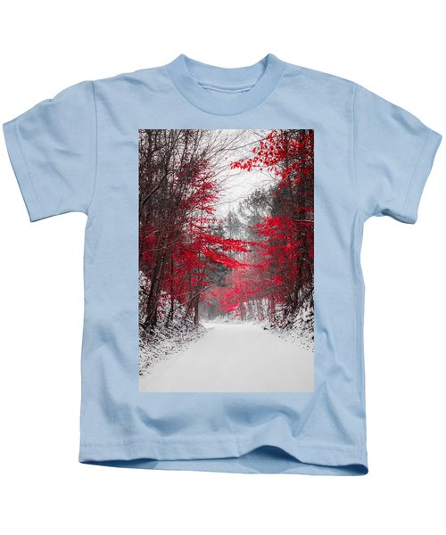 Red Blossoms  Kids T-Shirt