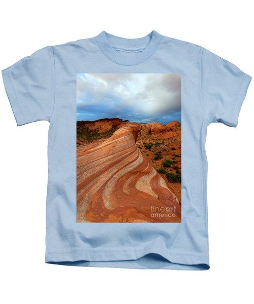 Red Swirl Kids T-Shirt
