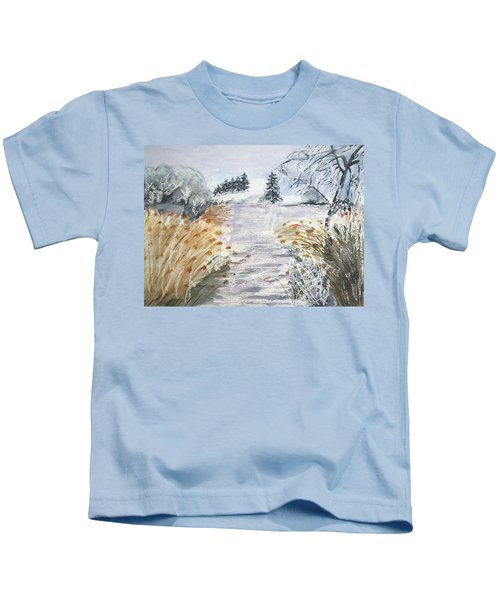 Reeds On The Riverbank No.2 Kids T-Shirt