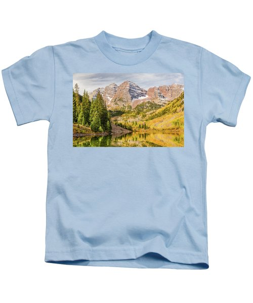 Reflections At Maroon Lake Kids T-Shirt