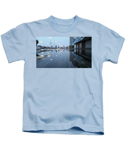Reflections Of The Boardwalk Kids T-Shirt