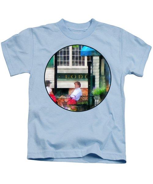 Rhode Island - Cafe Newport Ri Kids T-Shirt