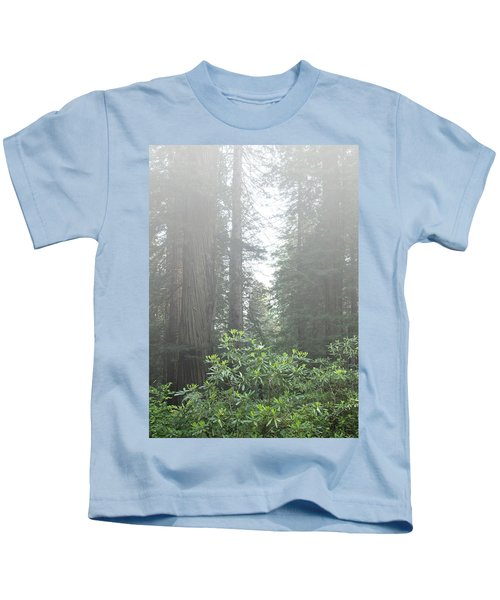Rhododendrons In The Fog Kids T-Shirt