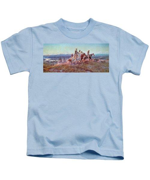 Riders Of The Open Range Kids T-Shirt