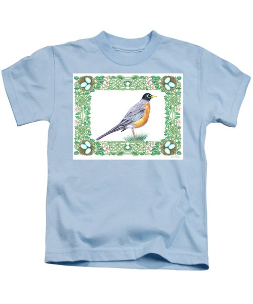 Robin In Spring Kids T-Shirt