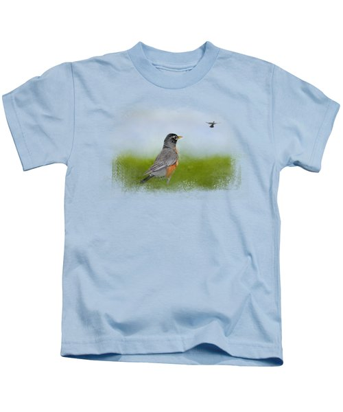 Robin In The Field Kids T-Shirt