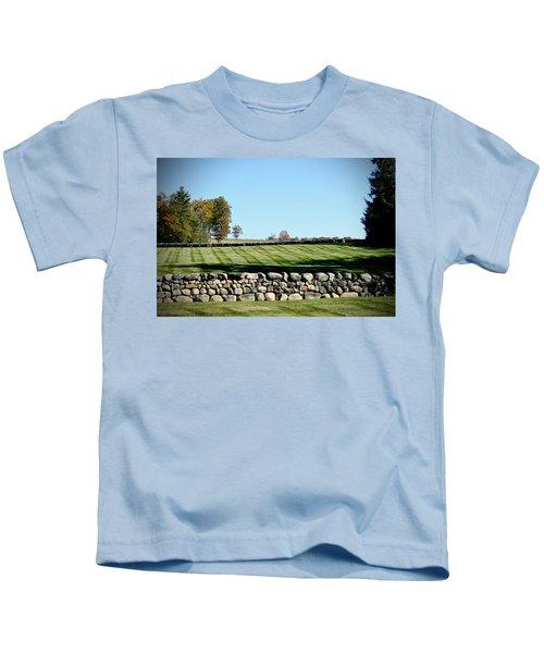 Rock Wall Lawn Kids T-Shirt