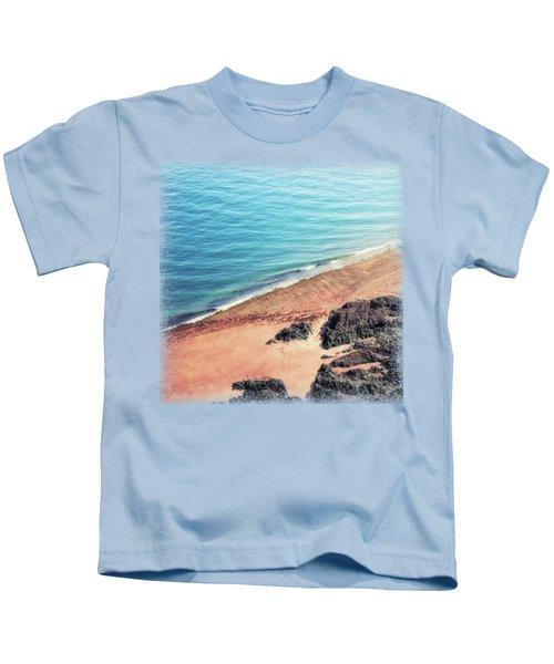 Rocky Beach Aerial Kids T-Shirt