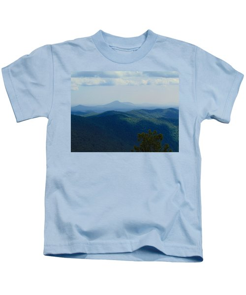 Rocky Mountain Overlook On The At Kids T-Shirt