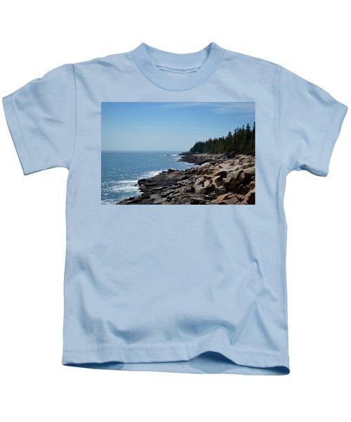 Rocky Summer Shore Kids T-Shirt