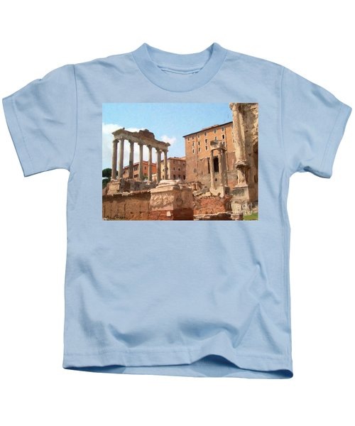 Rome The Eternal City And Temples Kids T-Shirt