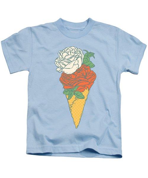 Rose Ice Cream Kids T-Shirt