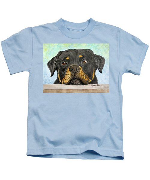 Rottweiler's Sweet Face 2 Kids T-Shirt