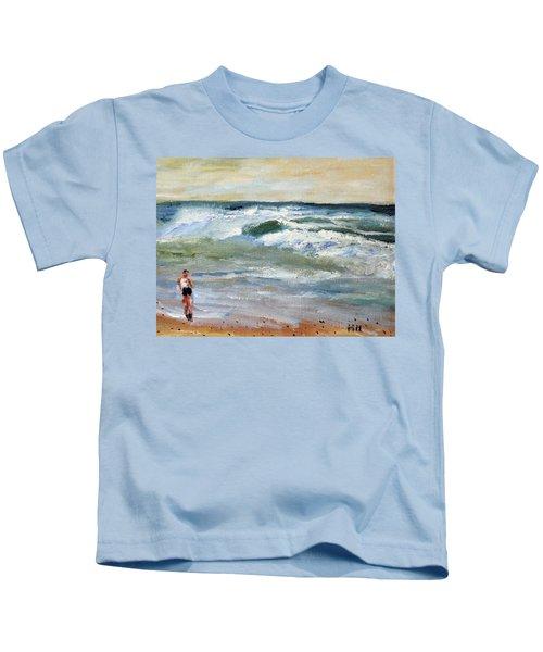 Running The Beach Kids T-Shirt