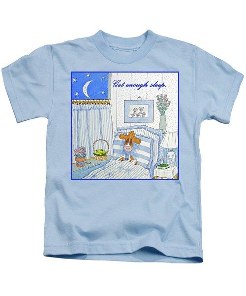 Ruthiemoo  Get Enough Sleep Kids T-Shirt
