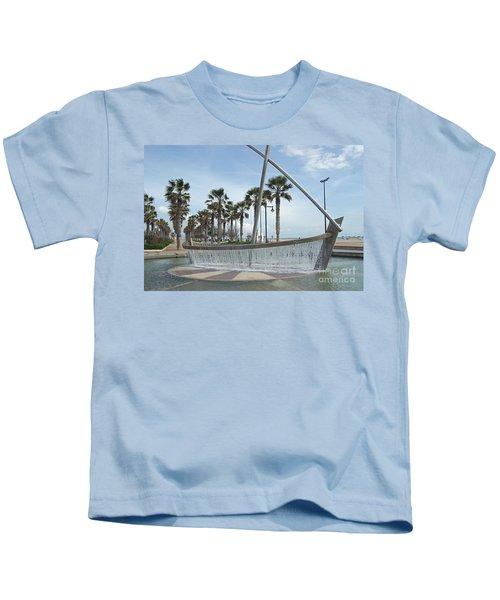 Sail Boat Fountain In Valencia Kids T-Shirt