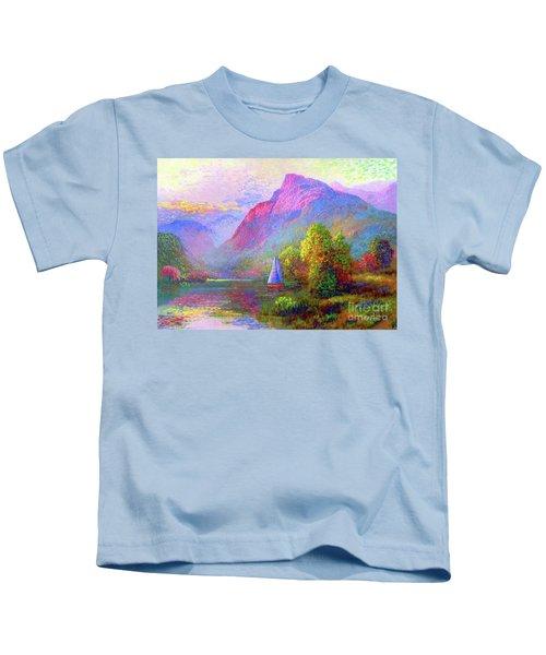 Sailing Into A Quiet Haven Kids T-Shirt
