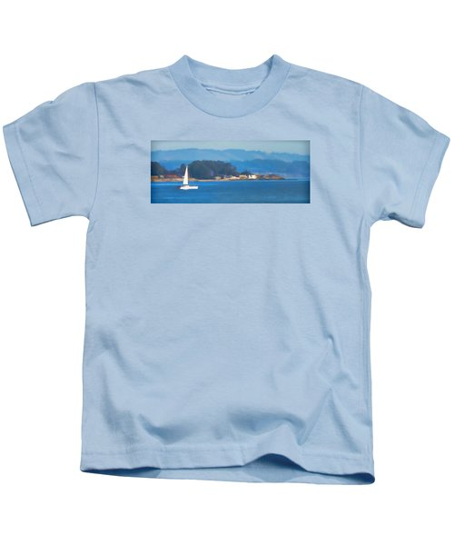 Sailing On The Monterey Bay Kids T-Shirt